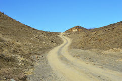 Gobi Altay Road extension Stock Images