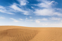 Gobi desert with blue sky Royalty Free Stock Photography