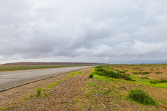 Gobi on the road Stock Photography
