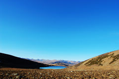 Gobi valley under the blue sky. Beautiful river valley under the blue sky Royalty Free Stock Photography