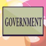 Gobierno conceptual de la demostración de la escritura de la mano Grupo del texto de la foto del negocio de mostrar con autoridad ilustración del vector