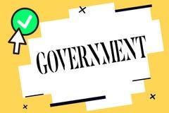 Gobierno conceptual de la demostración de la escritura de la mano Grupo del texto de la foto del negocio de mostrar con autoridad stock de ilustración