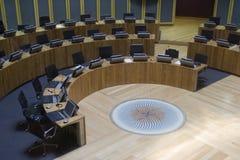 Gobierno de la asamblea Galés que discute el compartimiento Imagenes de archivo