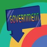 Gobierno de la demostración de la muestra del texto Grupo conceptual de la foto de mostrar con autoridad para gobernar la compañí stock de ilustración