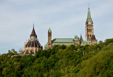 Gobierno de los edificios del parlamento de Canadá fotos de archivo libres de regalías