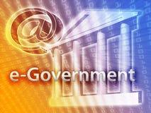 Gobierno electrónico stock de ilustración