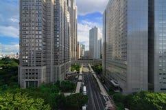 Gobierno metropolitana Bulidings en Tokio Fotos de archivo libres de regalías