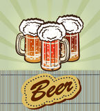 Goblet γυαλιού με την μπύρα και τον αφρό Στοκ φωτογραφία με δικαίωμα ελεύθερης χρήσης