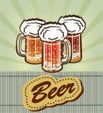 Goblet γυαλιού με την μπύρα και τον αφρό Στοκ εικόνα με δικαίωμα ελεύθερης χρήσης