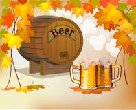Goblet γυαλιού με την μπύρα και τον αφρό Στοκ Εικόνες