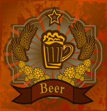 Goblet γυαλιού με την μπύρα και τον αφρό Στοκ εικόνες με δικαίωμα ελεύθερης χρήσης