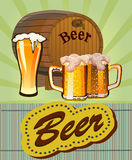 Goblet γυαλιού με την μπύρα Στοκ Φωτογραφίες