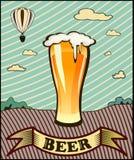 Goblet γυαλιού με την μπύρα Στοκ φωτογραφία με δικαίωμα ελεύθερης χρήσης