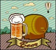 Goblet γυαλιού με την μπύρα Στοκ Εικόνα