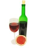 goblet μπουκαλιών κόκκινο κρα&s Στοκ φωτογραφίες με δικαίωμα ελεύθερης χρήσης