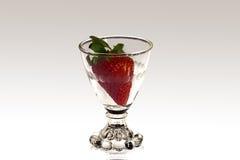 goblet φράουλα Στοκ φωτογραφία με δικαίωμα ελεύθερης χρήσης