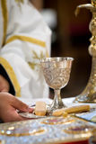 The goblet. With cracker ready for the wedding ceremony Royalty Free Stock Photos