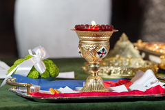 Goblet. A beautiful goblet in the wedding ceremony Royalty Free Stock Photos