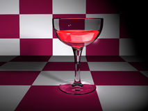 Goblet. Scene of the goblet  executed in 3D Royalty Free Stock Images