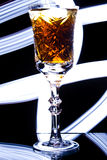 Goblet with alcohol Stock Photography