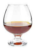 Goblet with cognac. On white background Royalty Free Stock Images