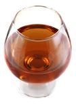 Goblet with cognac Stock Photos