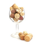 Goblet and cork Stock Photos