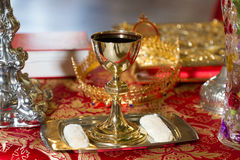 The goblet. With cracker ready for the wedding ceremony Royalty Free Stock Photography