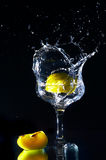 Goblet and fruits Stock Image
