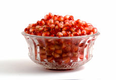 Goblet full of pomegranate arils Stock Photo