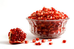Goblet full of pomegranate arils Stock Images