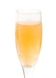 Goblet glass with champaign. On white background stock photos