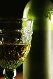 Goblet Golden Wine Royalty Free Stock Photography