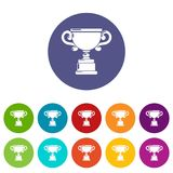 Goblet icons set vector color. Goblet icons color set vector for any web design on white background Royalty Free Stock Photos