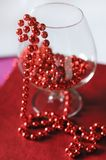 A goblet with red beads Stock Images