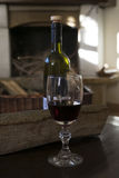 Goblet of red wine Royalty Free Stock Image