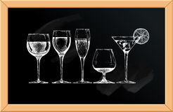 Goblet set Royalty Free Stock Images