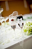 Goblet table setting Royalty Free Stock Image
