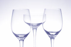 Goblet. Three goblets on a blue background Royalty Free Stock Photography