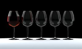Goblet of wine. Two glasses of wine. White, blush, burgundy Vector Illustration
