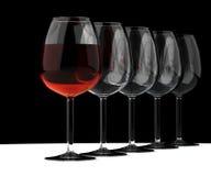 Goblet of wine. Two glasses of wine. White, blush, burgundy Royalty Free Illustration