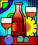 Goblet of wine Stock Images