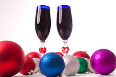 Goblet, wine, spirits for Christmas Stock Photo