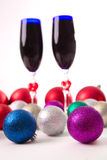 Goblet, wine, spirits for Christmas Royalty Free Stock Image