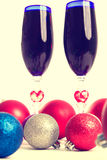 Goblet, wine, spirits for Christmas Stock Image