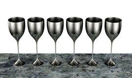 goblets ασήμι απεικόνιση αποθεμάτων