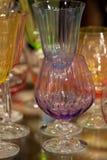Goblets γυαλιού και γυαλιά κρασιού Στοκ Φωτογραφίες