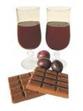 goblets δύο κρασί Στοκ φωτογραφία με δικαίωμα ελεύθερης χρήσης