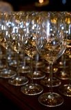 Goblets. Pictures from restaurant Stock Photo