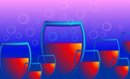 Goblets of drinks Royalty Free Stock Photography